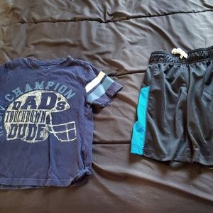 boy size 5 athletic shorts & graphic t